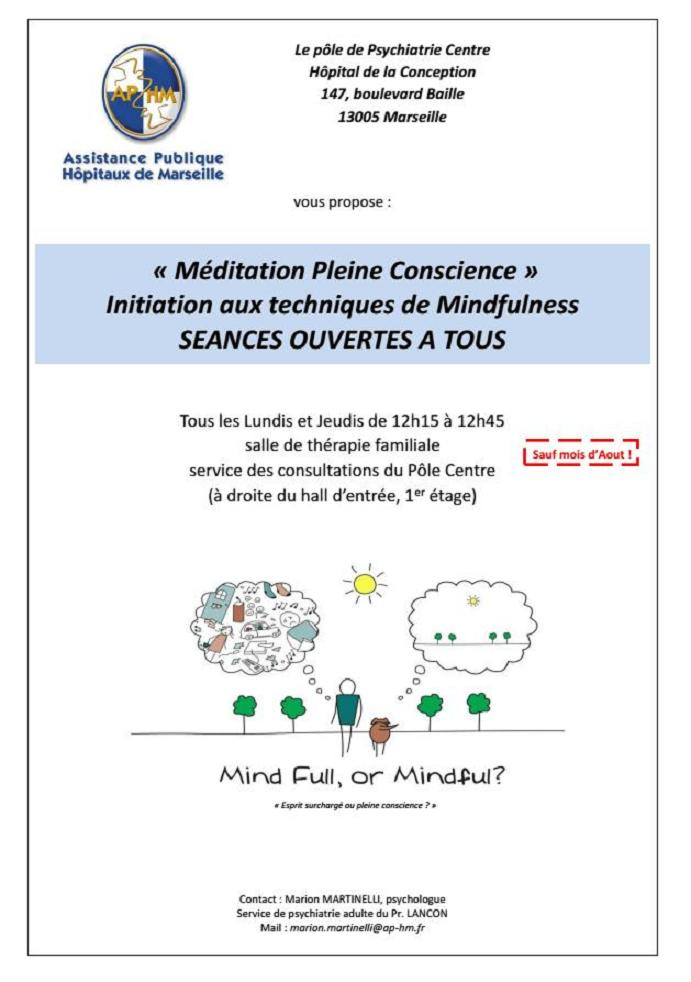 initiation meditation pleine conscience  marseille
